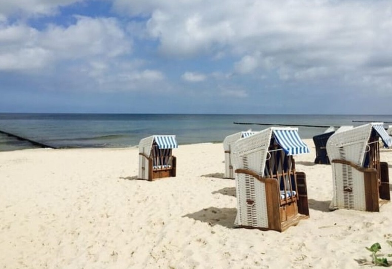 Ferienwohnung Melleblick, Loddin, Pláž