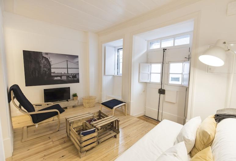 Historical Apartment Santos, Lissabon, Huoneisto, 2 makuuhuonetta, Oleskelualue