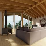 Cabaña Premium, Varias camas, vistas al mar - Zona de estar