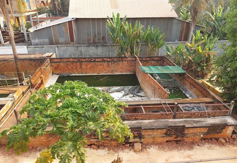 Donbosco and Vary Guesthouse, Siem Reap, Doppelzimmer, Ausblick vom Zimmer