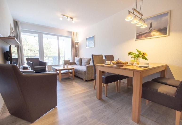 Strandhaus Nordseebrandung Fewo B4.1, Cuxhaven, Apartment, Living Room