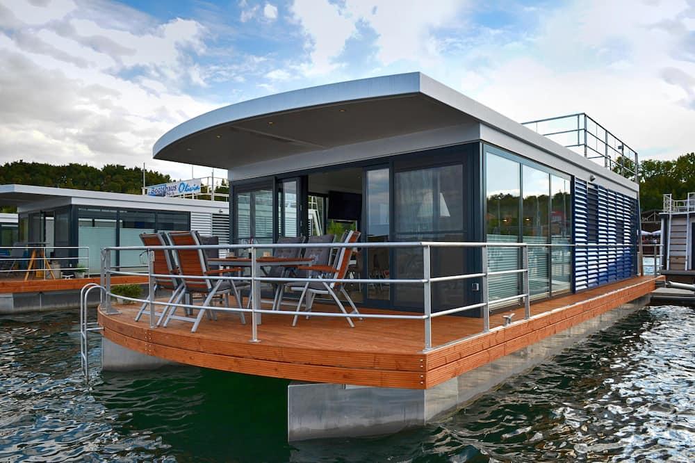 Hausboot Treibholz, Geiseltalsee, Leipziger Seen, Ferienwohnung auf dem Wasser