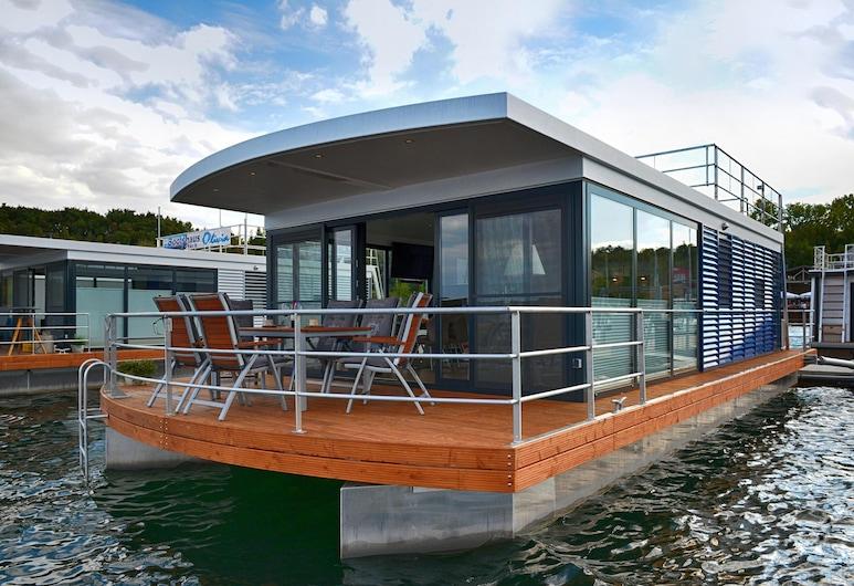 Hausboot Treibholz, Geiseltalsee, Leipziger Seen, Ferienwohnung auf dem Wasser, Mücheln (Geiseltal)
