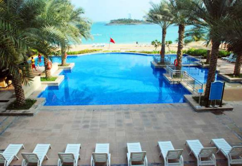 Private Beach Shoreline Luxurious Apartment, Dubajus, Deginimosi terasa