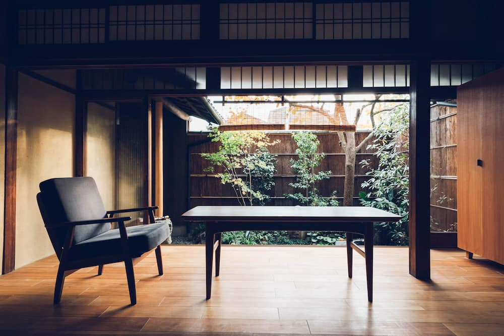 منزل (Private Vacation Home, Open-air Bath) - غرفة معيشة