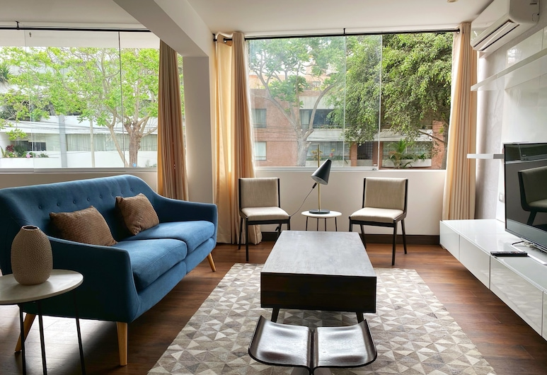 Luxury Upscale 2BR in San Isidro, Lima, Sala de estar