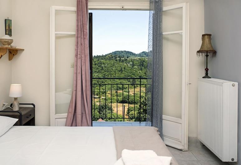 Sun-splashed Skyline Apt, Corfu, Căn hộ, 1 giường cỡ queen và sofa giường, Phòng