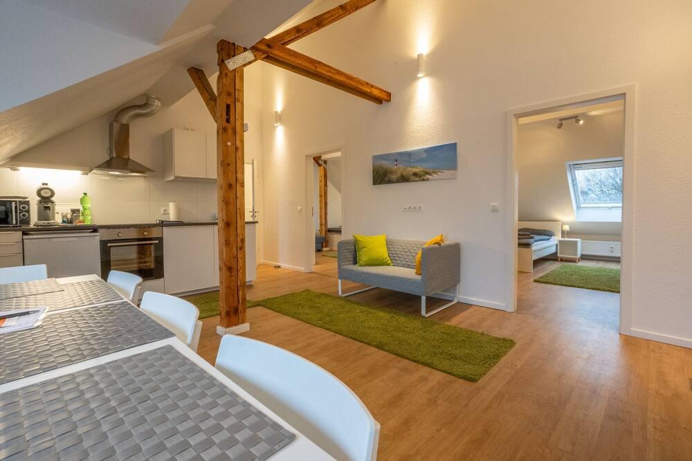 شقة - غرفتا نوم (Wohnung 2) - تناول الطعام داخل الغرفة