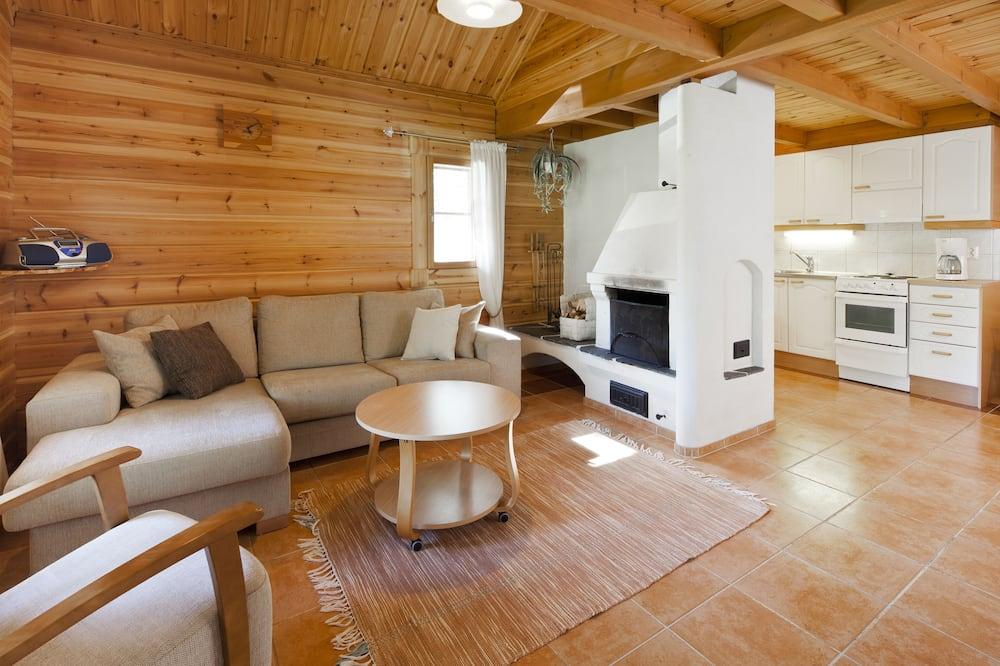 小屋, 2 間臥室, 三溫暖 (67,5 m2) - 客廳