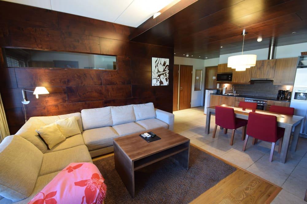 公寓客房, 3 間臥室, 三溫暖 (116 m2) - 客廳