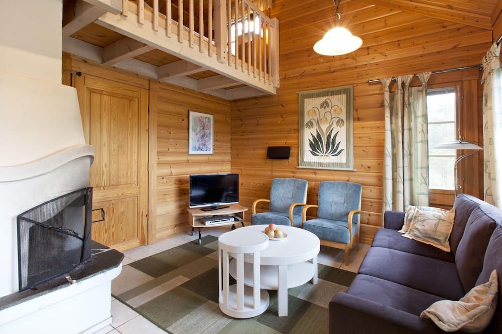 Cabaña, 1 habitación, sauna (57m2) - Sala de estar
