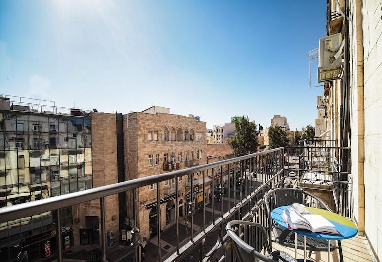 Paamonim Central Studios, Jerusalem, Classic-Studio, Balkon, Stadtblick, Blick vom Balkon