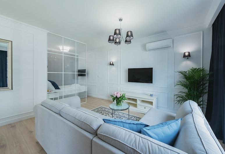YourSecondFlat Grzybowska, Varšava, Apartmán typu Exclusive (Grzybowska 94), Obývačka