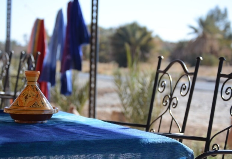 Kasbah Panorama Oasis, Rissani, Terasz/udvar