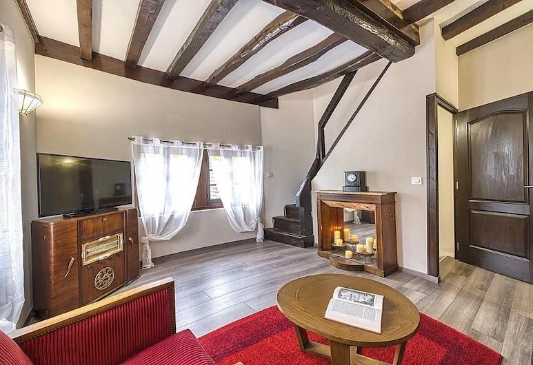 Le1600Troyes - La Champenoise & jardin, 托瓦, 獨棟房屋 (Salon au 1e étage), 客廳