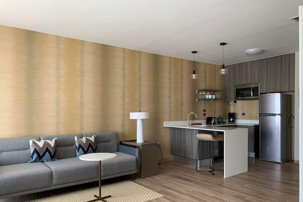 Štúdio typu City, 1 extra veľké dvojlôžko, nefajčiarska izba, výhľad na mesto - Obývačka