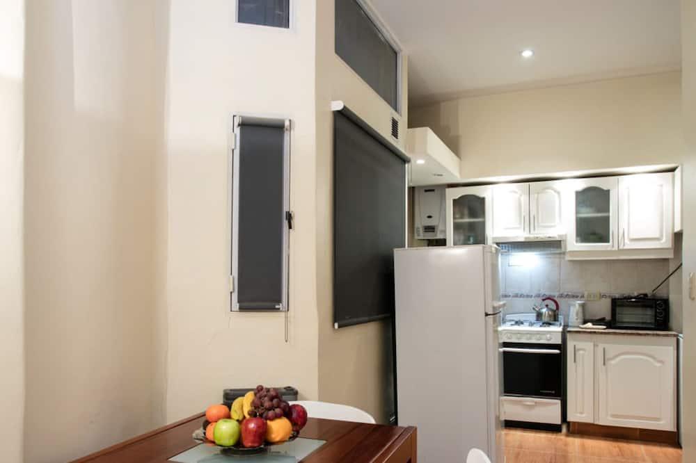 Appartement, 1 tweepersoonsbed, privébadkamer (Departamento 4to Piso) - Eetruimte in kamer