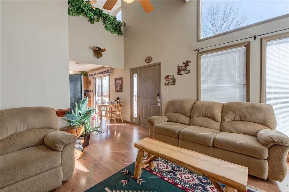 小屋, 多張床, 私人泳池, 山景 - 客廳