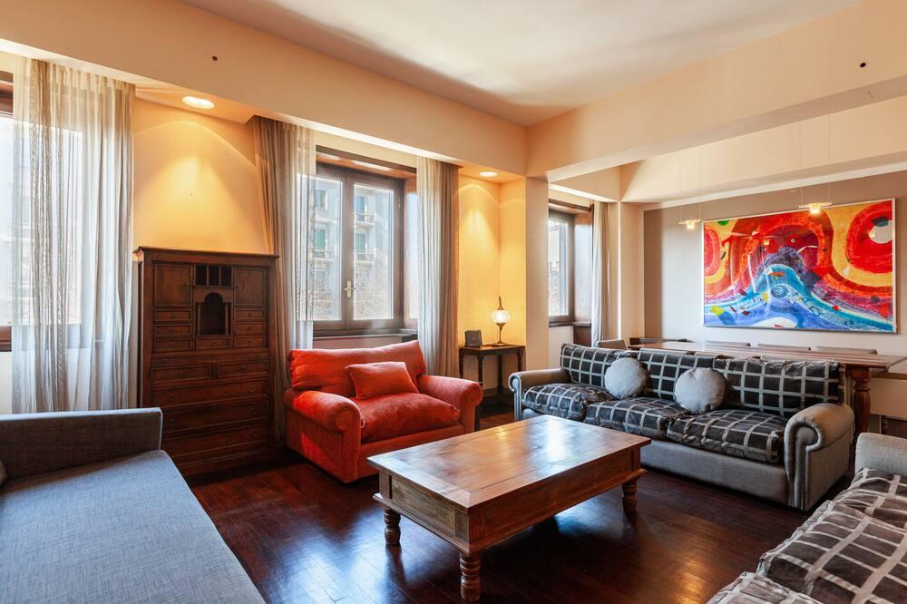 Apartmán, 4 ložnice - Obývací prostor