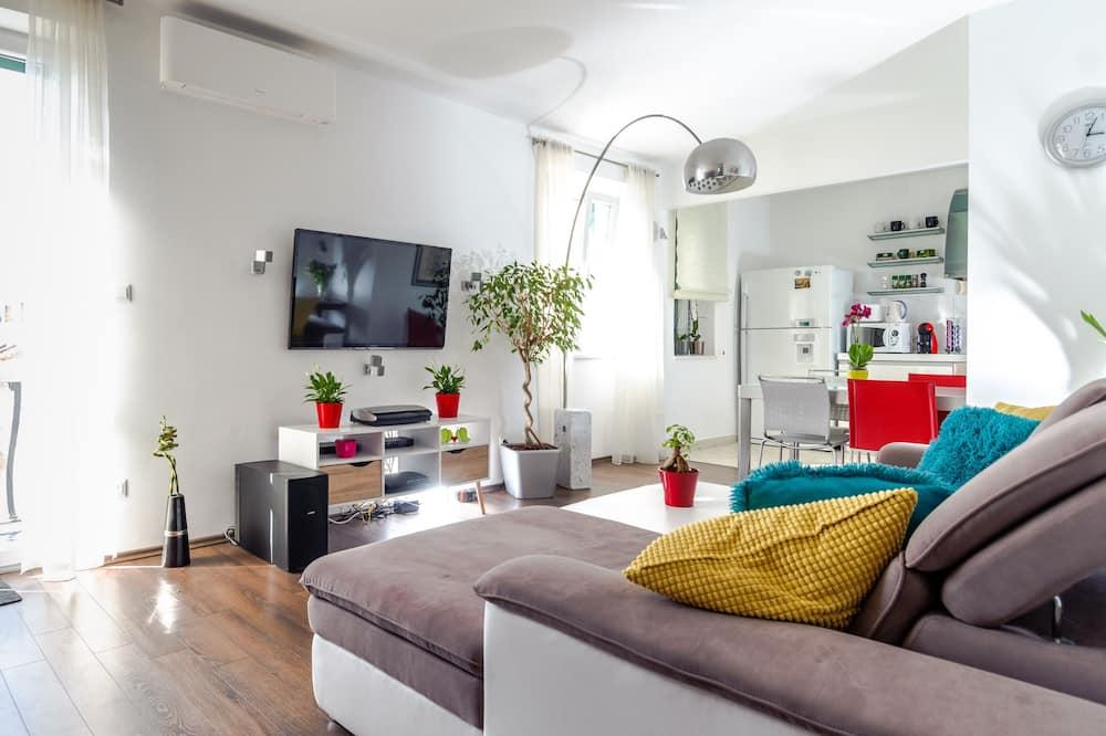 Căn hộ trung tâm thành phố - Khu phòng khách