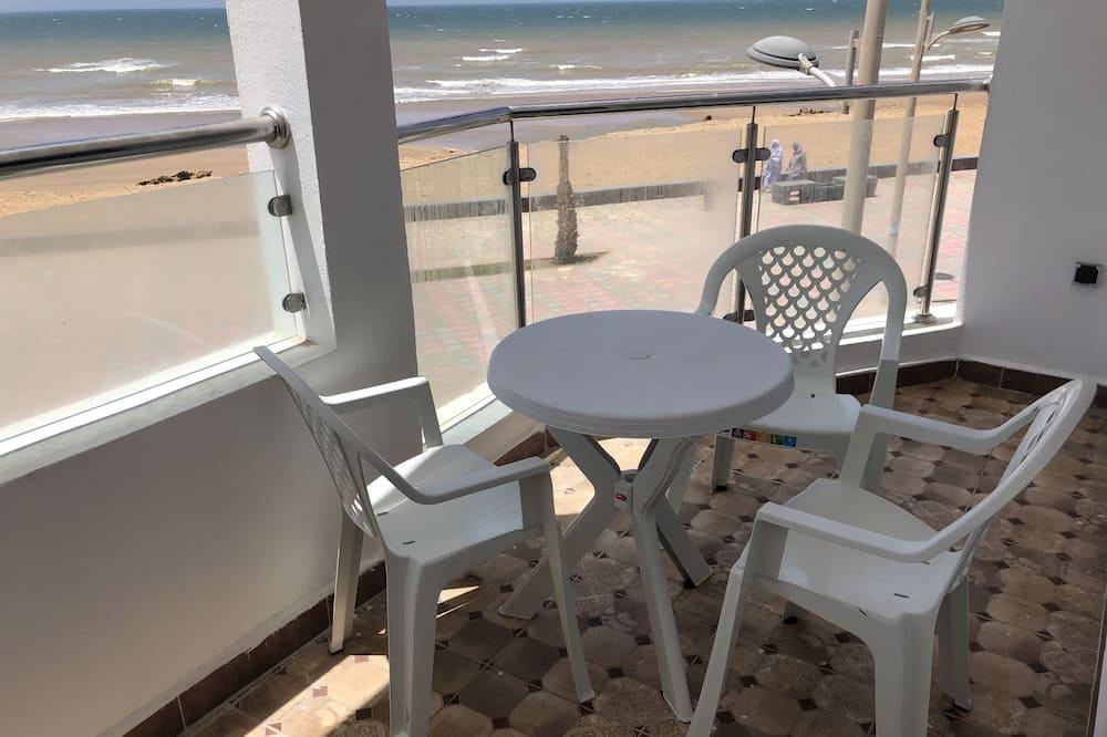 Augstākās klases dzīvokļnumurs, skats uz jūru - Balkons