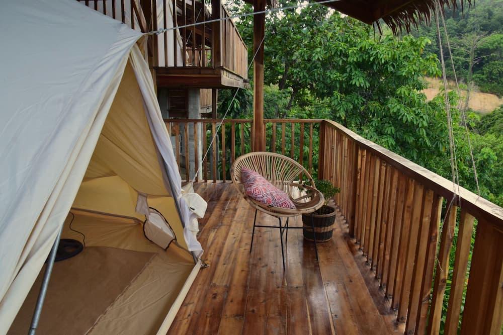 Prabangaus stiliaus palapinė, 1 didelė dvigulė lova - Balkonas