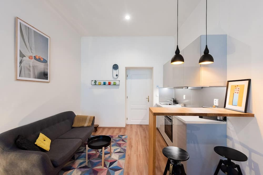 Appartement, 1 queensize bed (Zborovska 6 (Flat 404)) - Woonkamer
