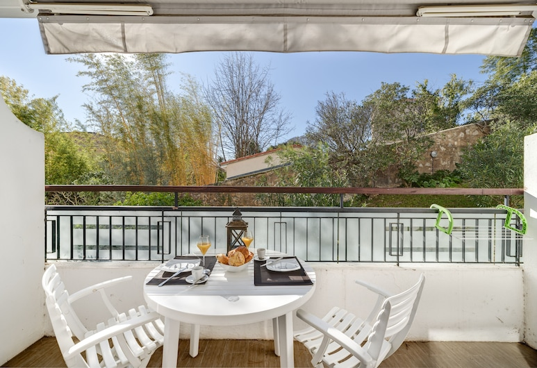 Sunny apartment with a romantic balcony, Cannes, Appartement, 1 queensize bed (FR-CA-57- Avenue Isola Bella), Balkon
