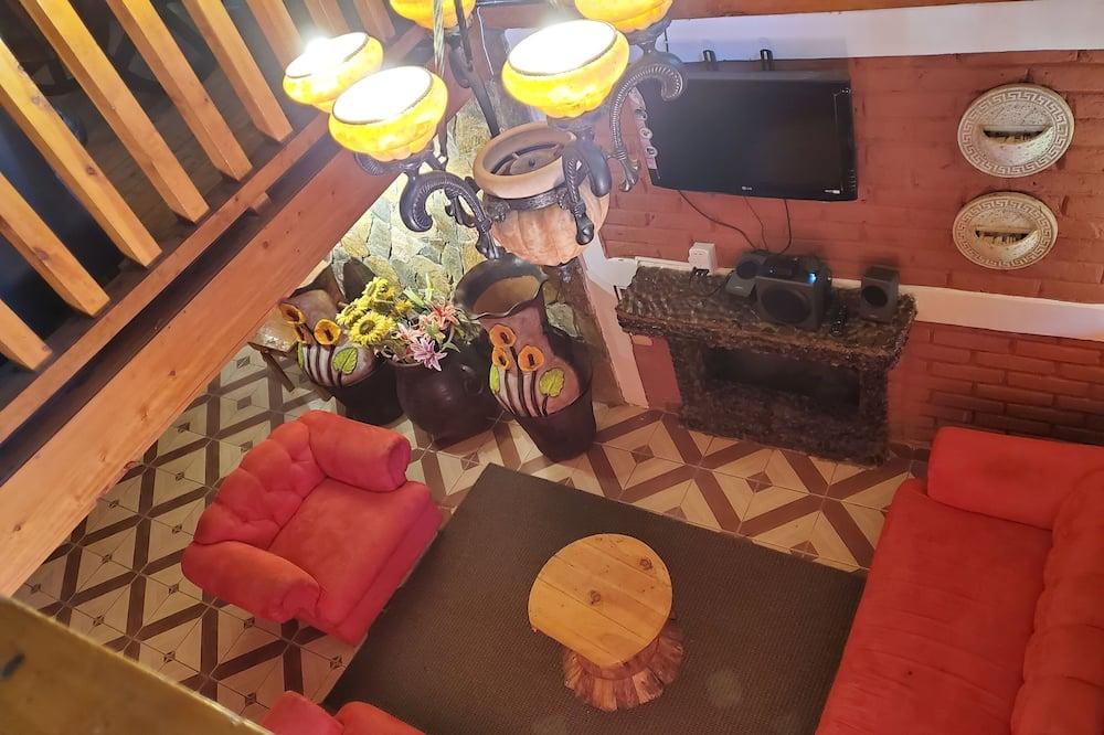 Cabaña Deluxe, 2 habitaciones, vista a la montaña - Sala de estar