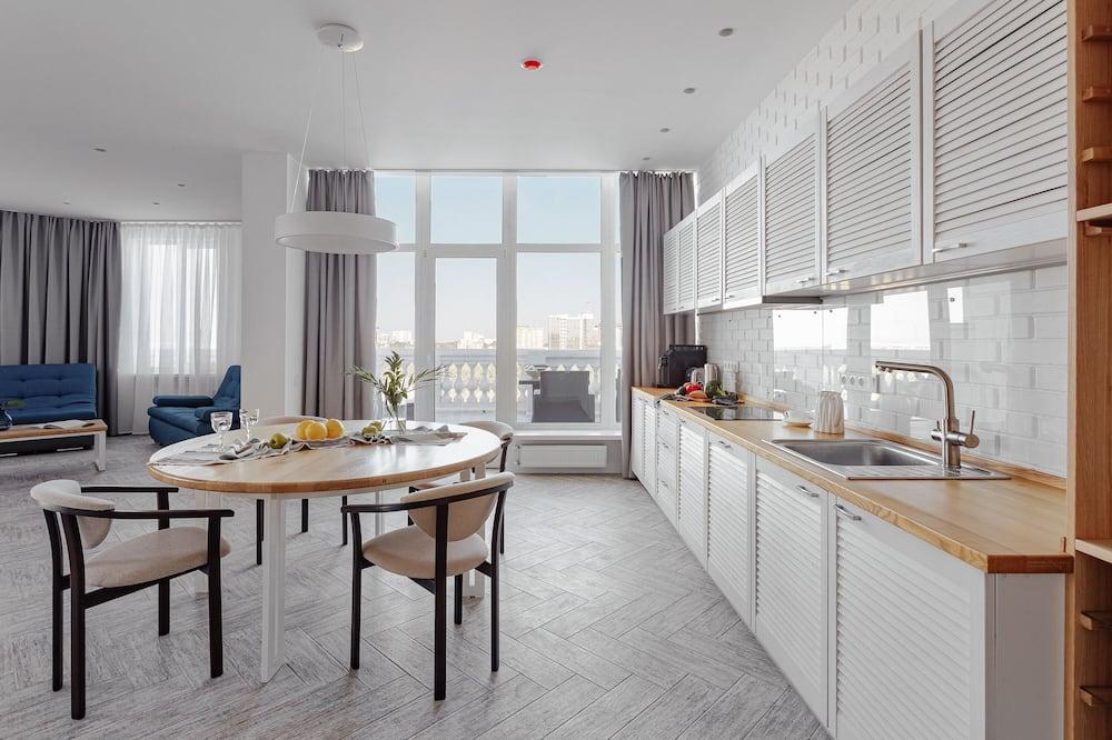 公寓, 2 間臥室, 露台 - 客房內用餐