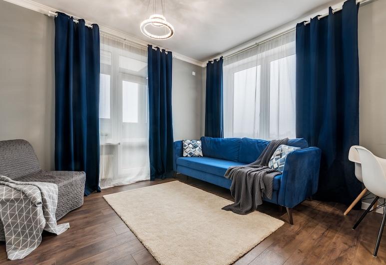 RentHouse Premium Apartment Frunzenskaya, St. Petersburg, Design Apartment, Ruang Tamu