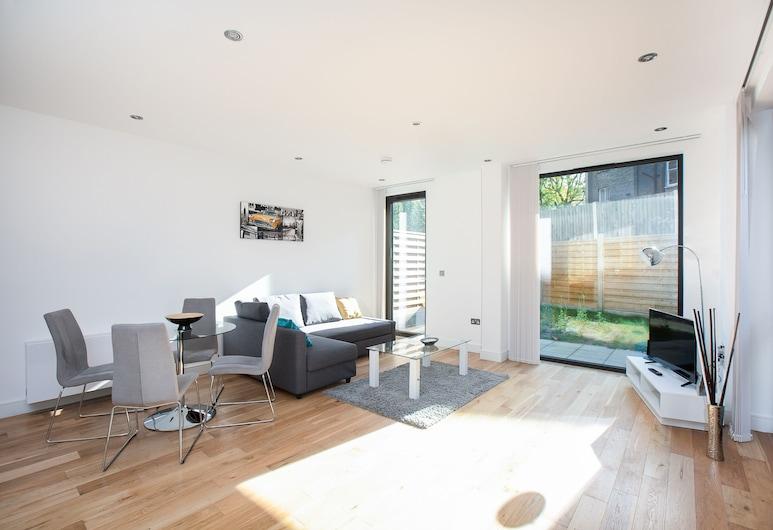 Spacious Luxury 1 Bed With Garden In Maida Vale, Londen, Appartement, 1 queensize bed met slaapbank, Woonkamer