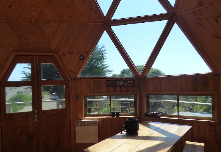Dune & Domes Pichilemu, Pichilemu, Cabana de Madeira Deluxe (Domo 3), Sala de Estar