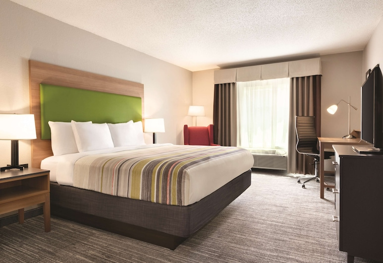 Country Inn & Suites by Radisson, Greensboro, NC, Greensboro, Room, 1 King Bed, Non Smoking, Guest Room