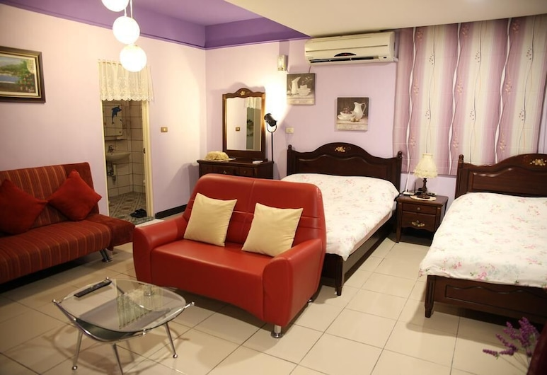 Hong Ying B&B, Xiulin, חדר לארבעה, חדר אורחים