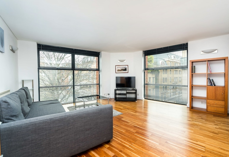 NEW Sleek 2BD City Flat in the Heart of Farringdon, 倫敦, 公寓 (2 Bedrooms), 客廳