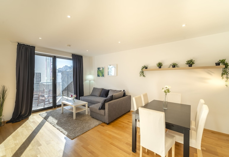 Margareten Apartments - contactless check in, Viena, SUNNY FLAT/w. terrace near Naschmarkt and Centre, Sala