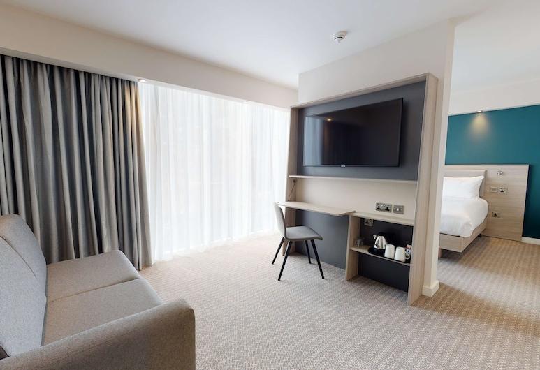 Hampton by Hilton Manchester Northern Quarter, 曼徹斯特, 客房, 1 張加大雙人床及 1 張梳化床, 客房