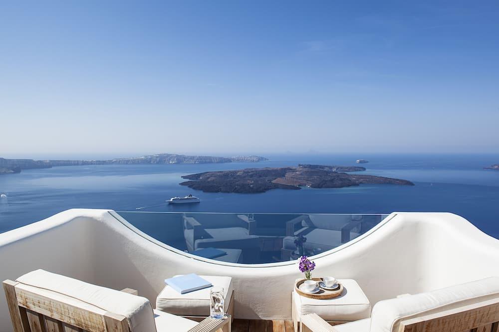 Villa Deluxe, 4 habitaciones, bañera de hidromasaje (Caldera View) - Imagen destacada