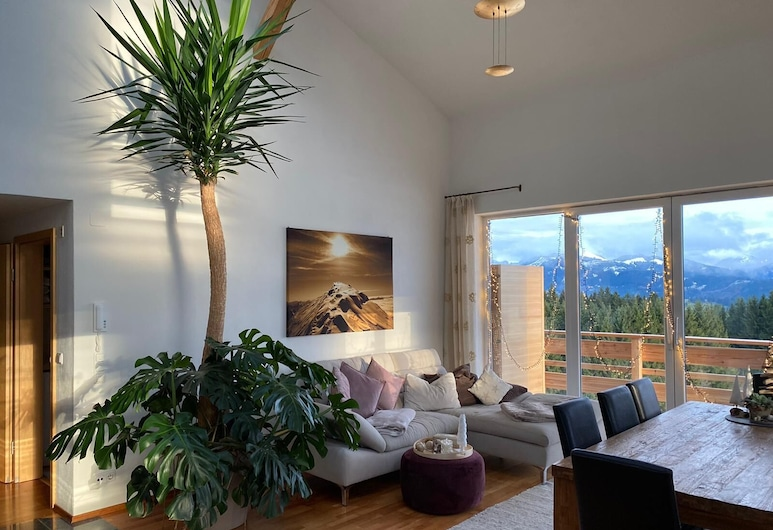 Loft with panoramic mountain views, Rettenberg, Living Room
