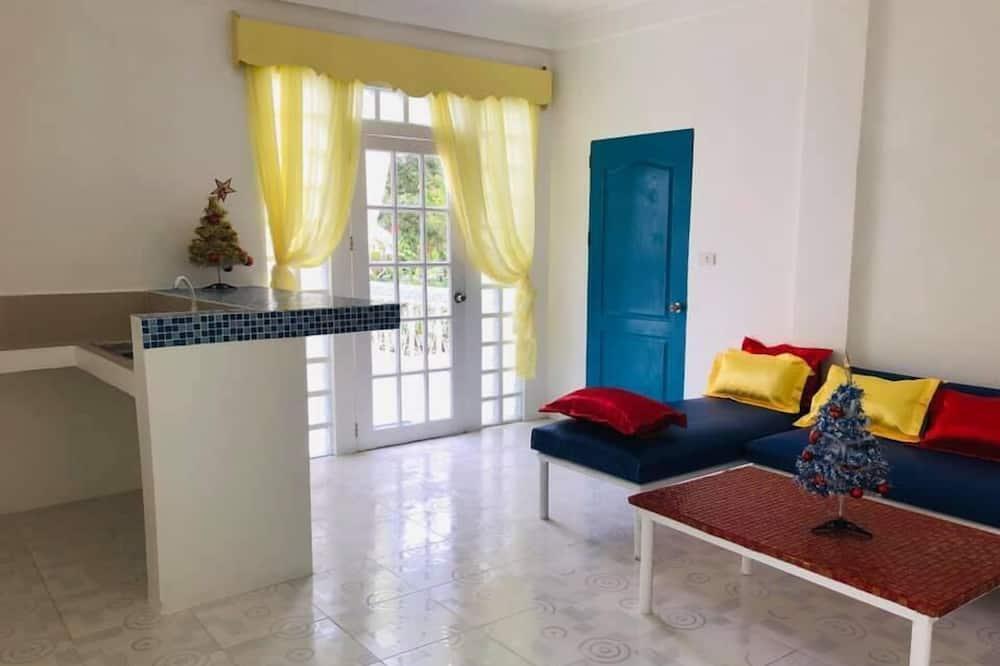 デラックス アパートメント 1 ベッドルーム バルコニー - リビング ルーム