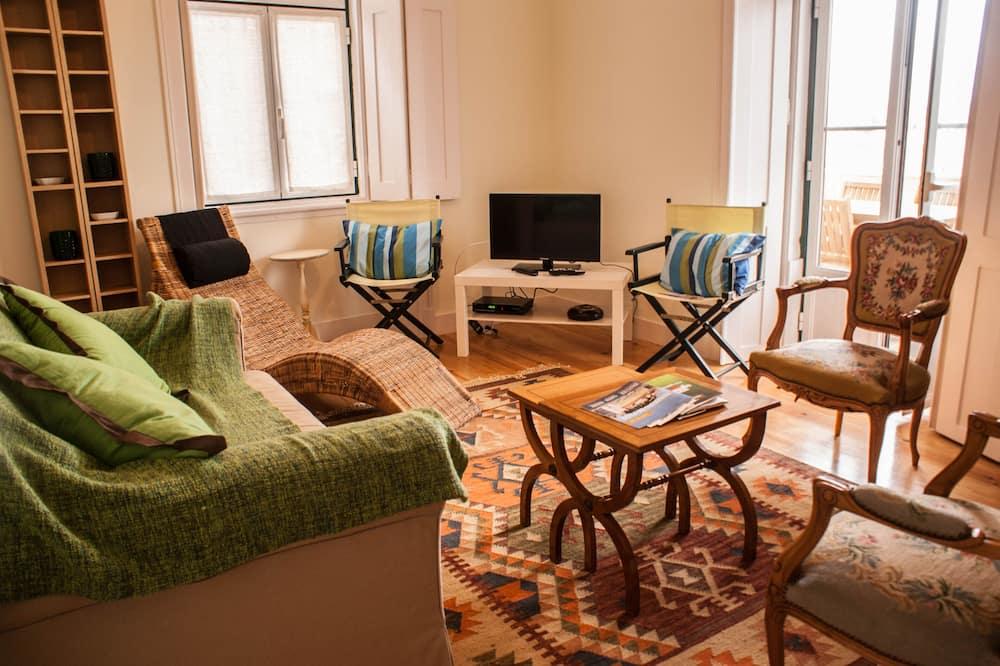 Appartement, 3 slaapkamers, terras, Uitzicht op de stad (4) - Woonkamer