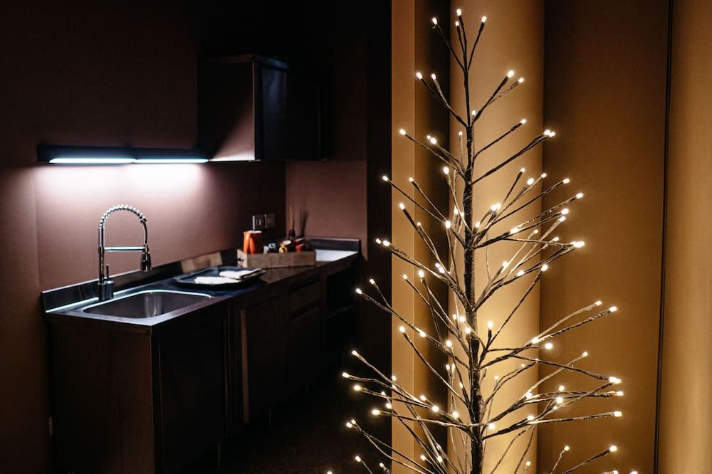 Студія-люкс - Приватна міні-кухня