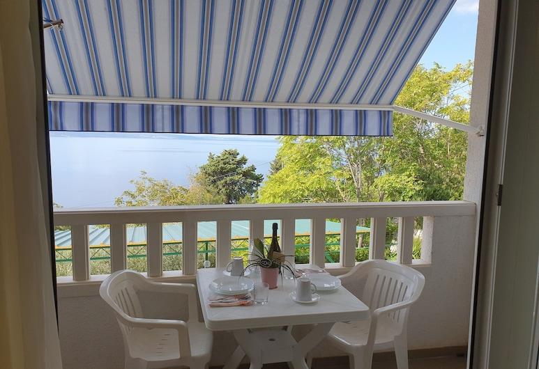Apartments Ivan, Omis, Leilighet, utsikt mot sjø, Balkong