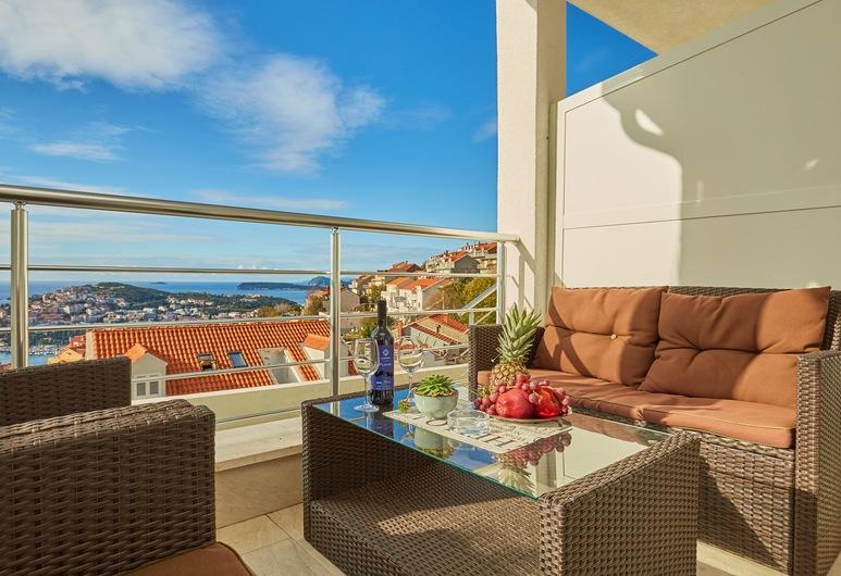 Apartments Muminovic, Dubrovnik, Apartamento, 2 quartos, Terraço, Vista para o mar, Terraço/pátio