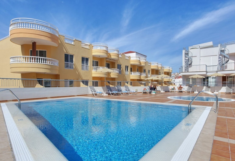 Nice Appartment for up to 5 Persones With Ocean View, Pool Wifi Air Conditioner, Santiago del Teide, Bazén