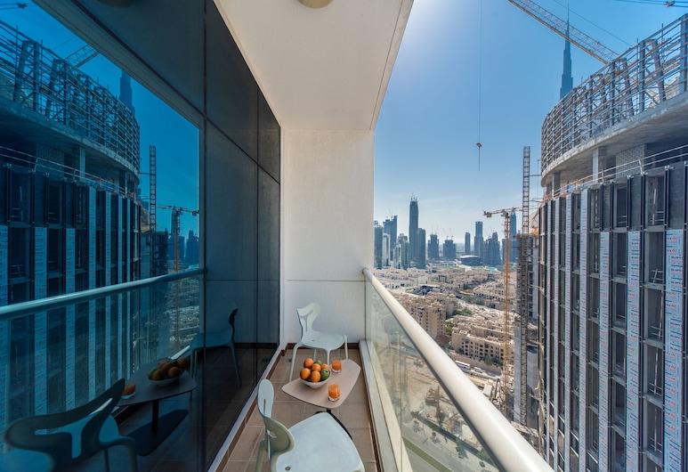 Bnbme - Studio in Burj Nujoom, Dubai, Deluxe stúdió, Erkély