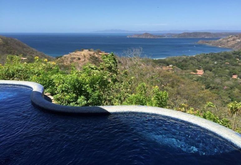 Casita Cole, Playa Hermosa, Villa de lujo, 2 habitaciones, piscina privada, vista al mar, Vista al agua