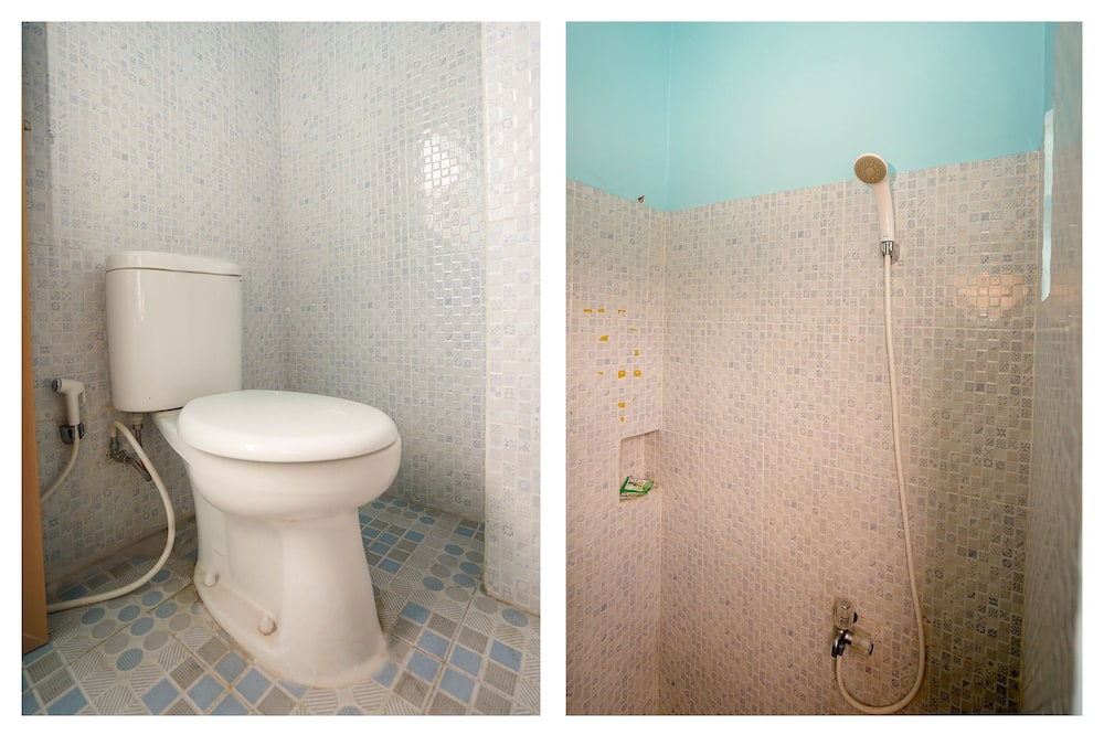 Kambarys (2 viengulės lovos) su pagrindiniais patogumais - Vonios kambarys