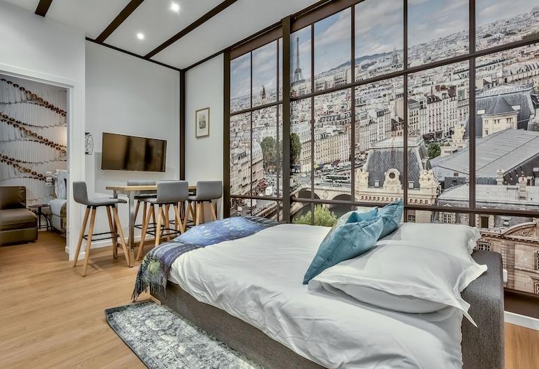 114 - Urban Saint Denis Couture, Paryż, Apartament, 1 sypialnia, Pokój